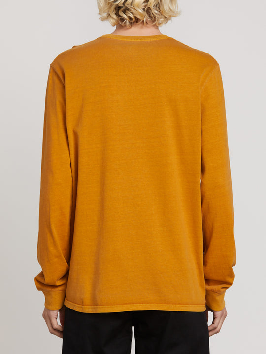 PALE WASH STONE L/S TEE CAMEL