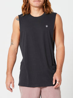 Solid Muscle Tank - Black (A3742073_BLK) [F]