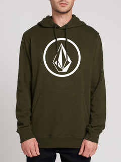 Brass Tacks Pullover Fleece Hoodie - Dark Green