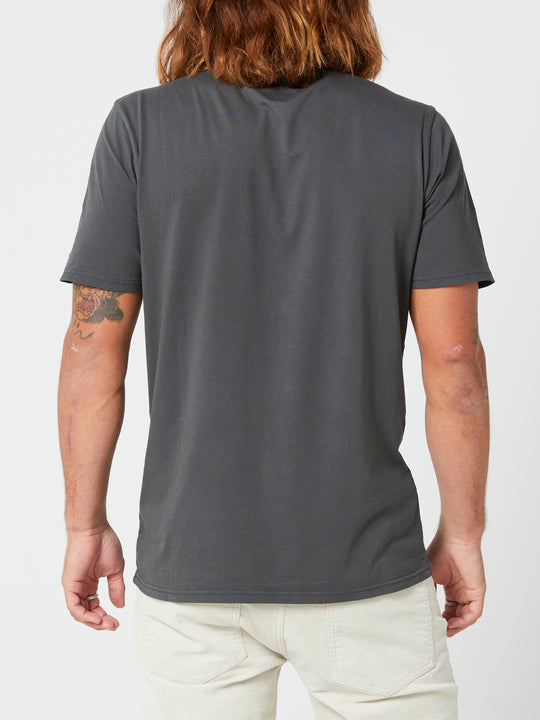 Aus Wash Short Sleeve Tee - Black (A4302001_BLK) [B]
