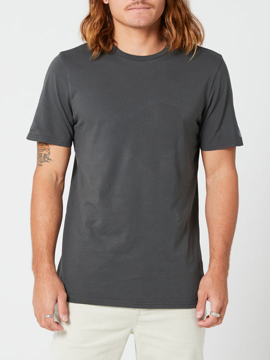 Aus Wash Short Sleeve Tee - Black (A4302001_BLK) [F]