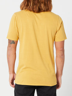 Aus Wash Short Sleeve Tee - Seedy Yellow (A4302001_SDY) [B]