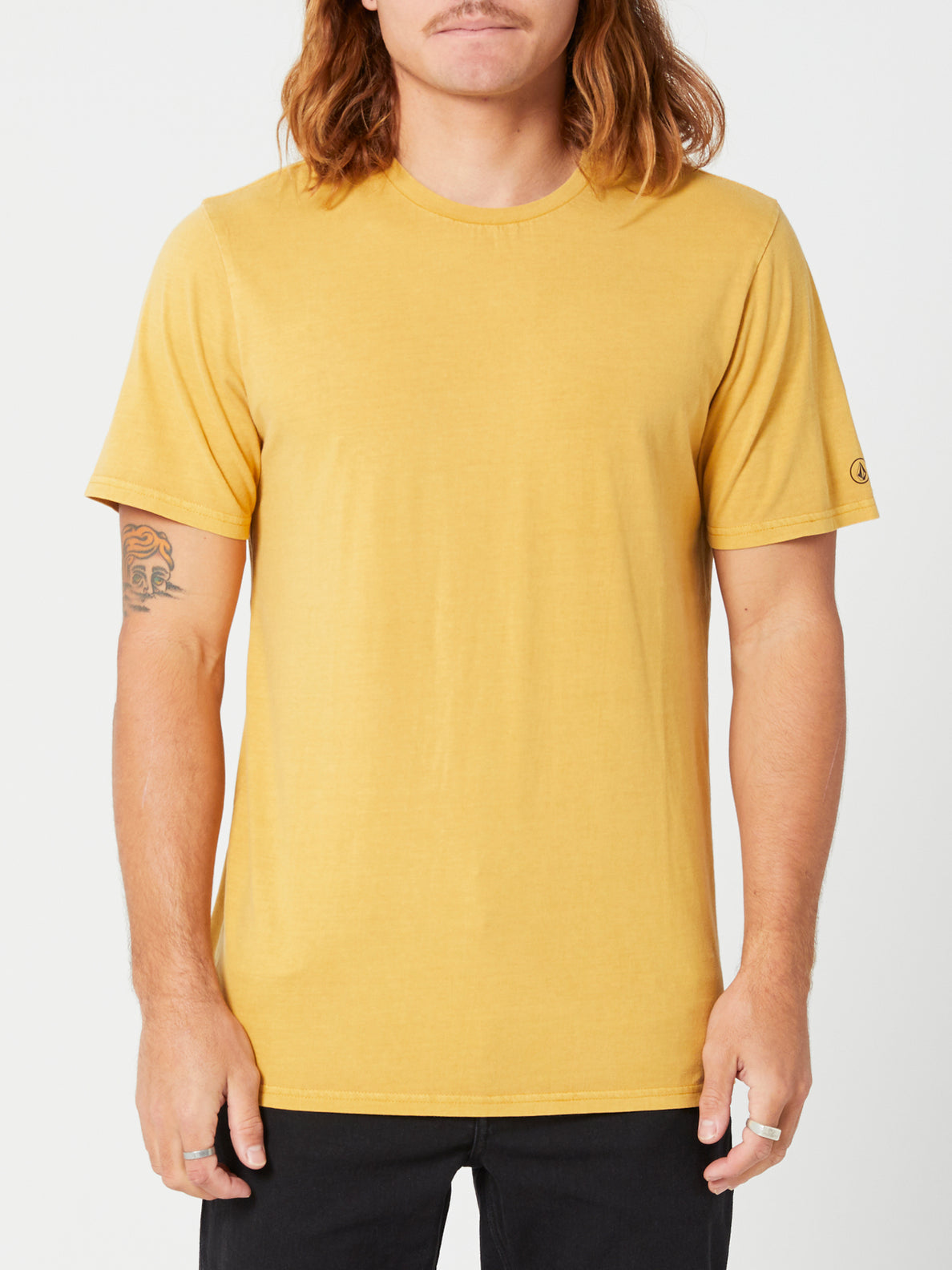 Aus Wash Short Sleeve Tee - Seedy Yellow (A4302001_SDY) [F]