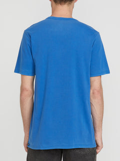 Deadly Stone Wash Short Sleeve Tee - Marina Blue (A4331970_MRB) [B]