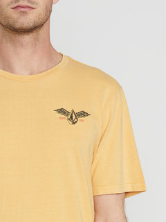 Flying Stone Short Sleeve Tee Honey Gold (A4341974_HGD) [1]