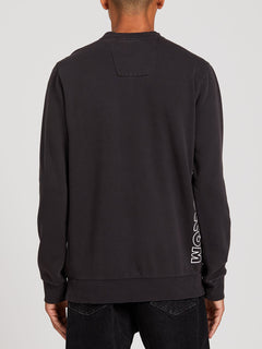 Tbd Washed Crew Fleece - Asphalt Black