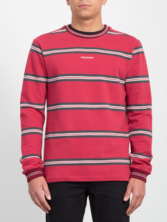 Canionne Long Sleeve Crew - Burgundy