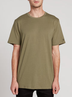 Solid Short Sleeve Tee - Army Green Combo