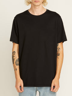 Solid Short Sleeve Tee - Black (A5011530_BLK) [F]