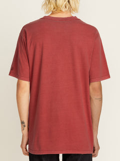 Solid Short Sleeve Tee - Burgundy