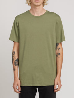 SOLID S/S TEE DUSTY GREEN