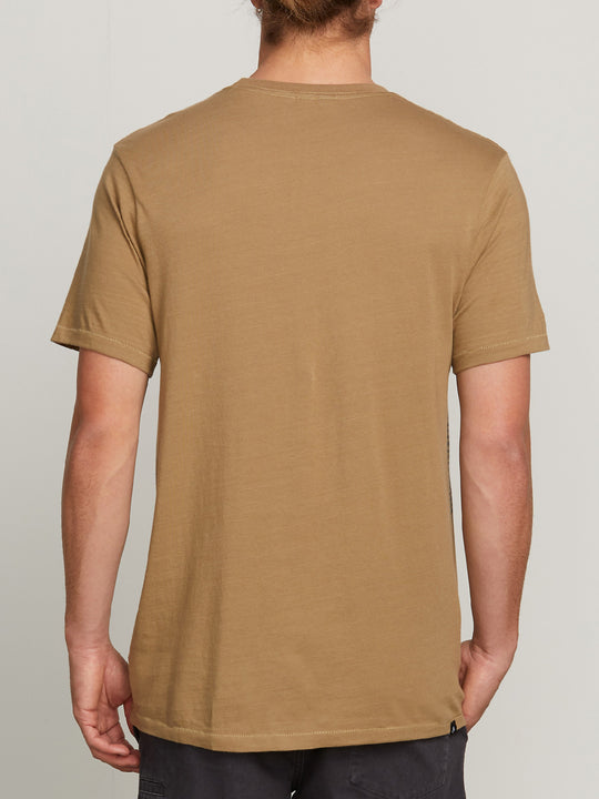 SOLID S/S TEE SAND BROWN