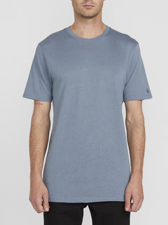 Solid Short Sleeve Tee - Stormy Blue