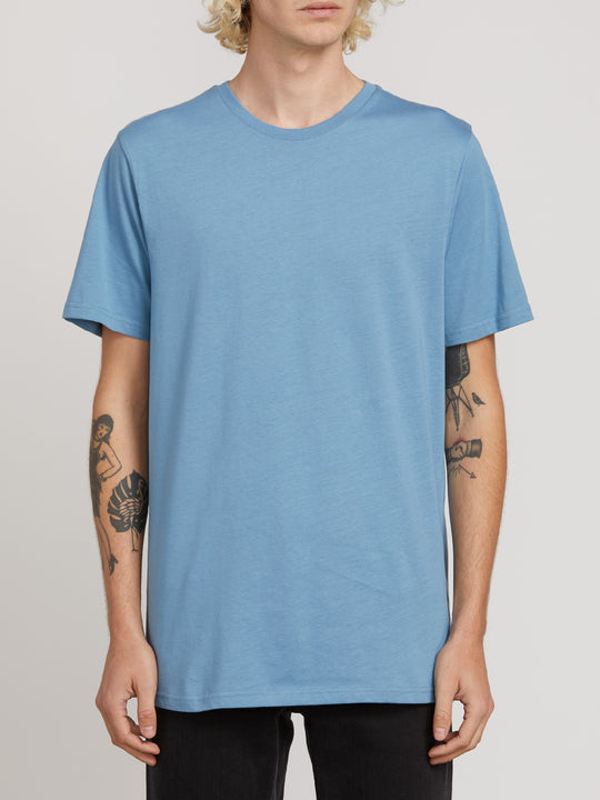 Solid Short Sleeve Tee - Vintage Blue