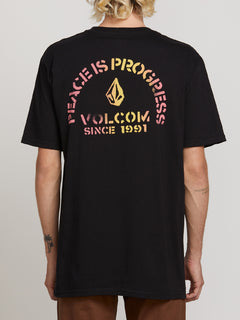 Peace Is Progress Short Sleeve Tee - Black