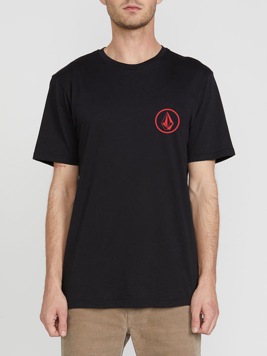 Mini Circle Stone Short Sleeve Tee - Black