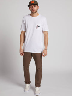 Pangeaseed Short Sleeve Pocket Tee White (A5031909_WHT) [2]