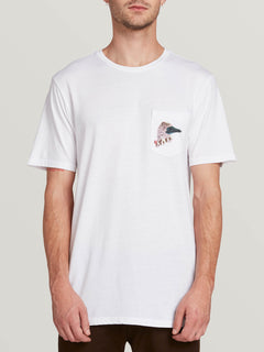 Pangeaseed Short Sleeve Pocket Tee White (A5031909_WHT) [F]