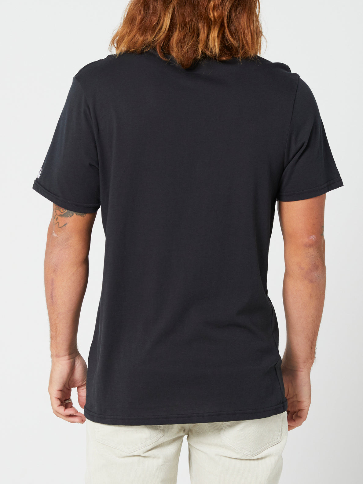 Solid Short Sleeve Tee - Black (A5032074_BLK) [B]