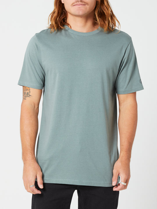 Solid Short Sleeve Tee - Fir Green (A5032074_FIR) [F]
