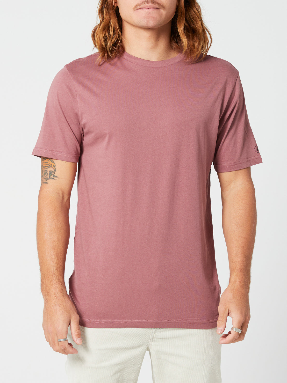 Solid Short Sleeve Tee - Rose Brown (A5032074_RSB) [F]