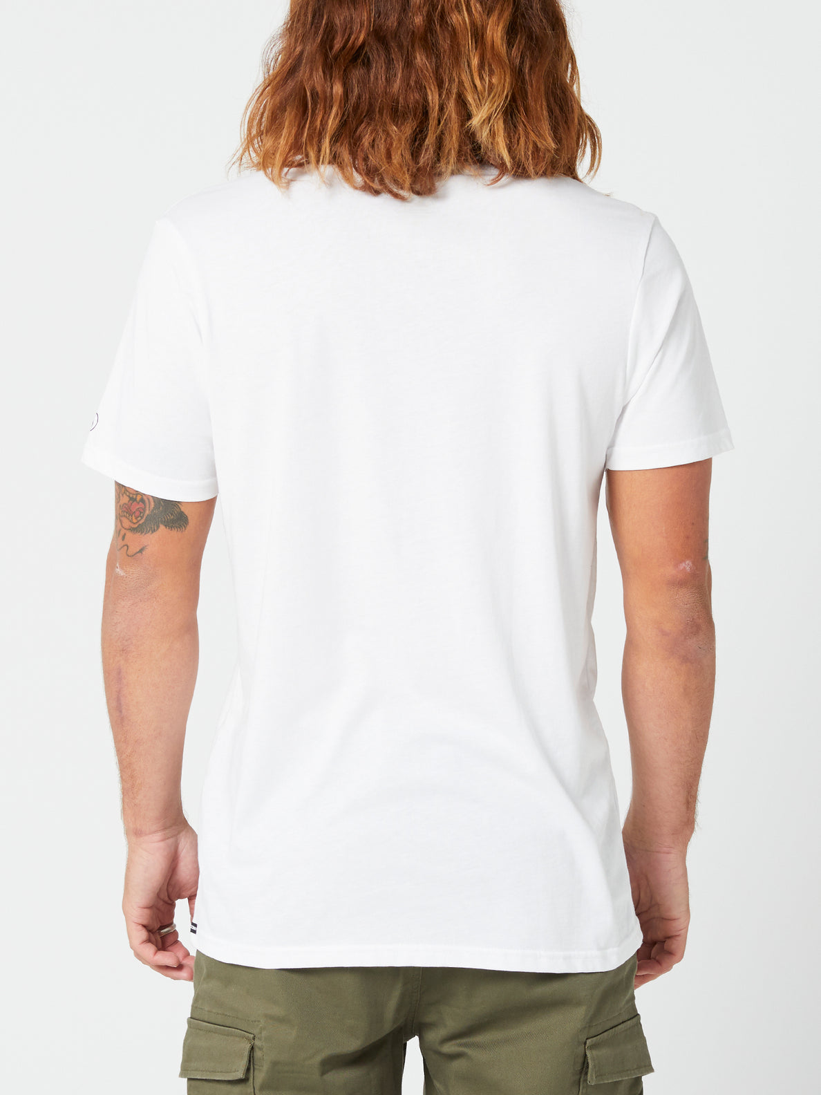 Solid Short Sleeve Tee - White (A5032074_WHT) [B]