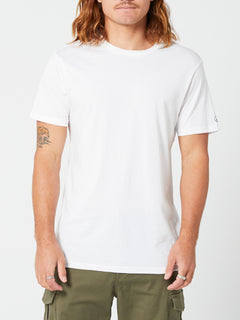 Solid Short Sleeve Tee - White (A5032074_WHT) [F]