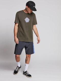 Noa Band Short Sleeve Tee - Black