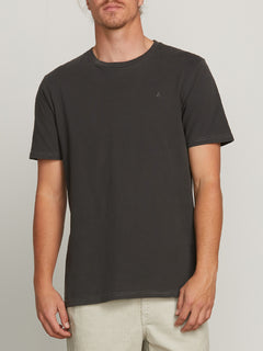 Pale Wash Stone Short Sleeve Tee - Black