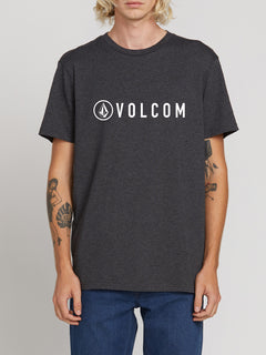 Header Short Sleeve Heather Tee - Charcoal Heather