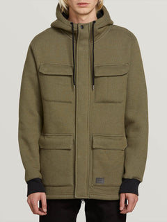 A4 Bonded Zip Jacket - Army