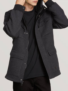 A4 Bonded Zip Jacket - Black
