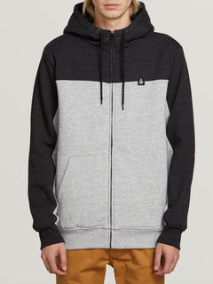 Single Stone Lined Zip Hoodie - Storm