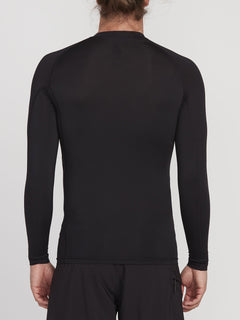 Mini Circle Long Sleeve Lycra Rashvest - Black