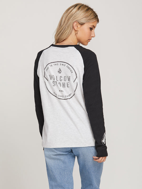 MIND YOUR LONG SLEEVE TEE LIGHT GREY