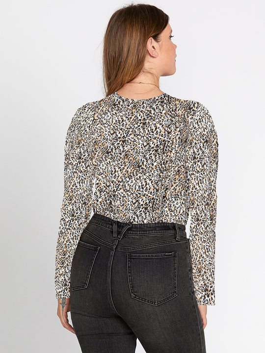 Im A Leo Long Sleeve Top - Leopard