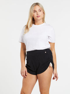 Lived In Lounge Fleece Shorts - Black (B0931803_BLK) [10]