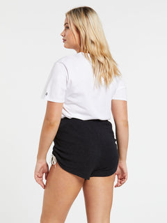 Lived In Lounge Fleece Shorts - Black (B0931803_BLK) [11]