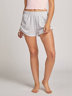 Lived In Lounge Fleece Shorts - Light Grey