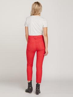 Gmj High Rise Jeans - Red