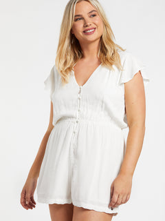 Coco Button Thru Romper Star White (B2832004_SWH) [06]