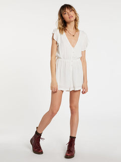 Coco Button Thru Romper Star White (B2832004_SWH) [F]