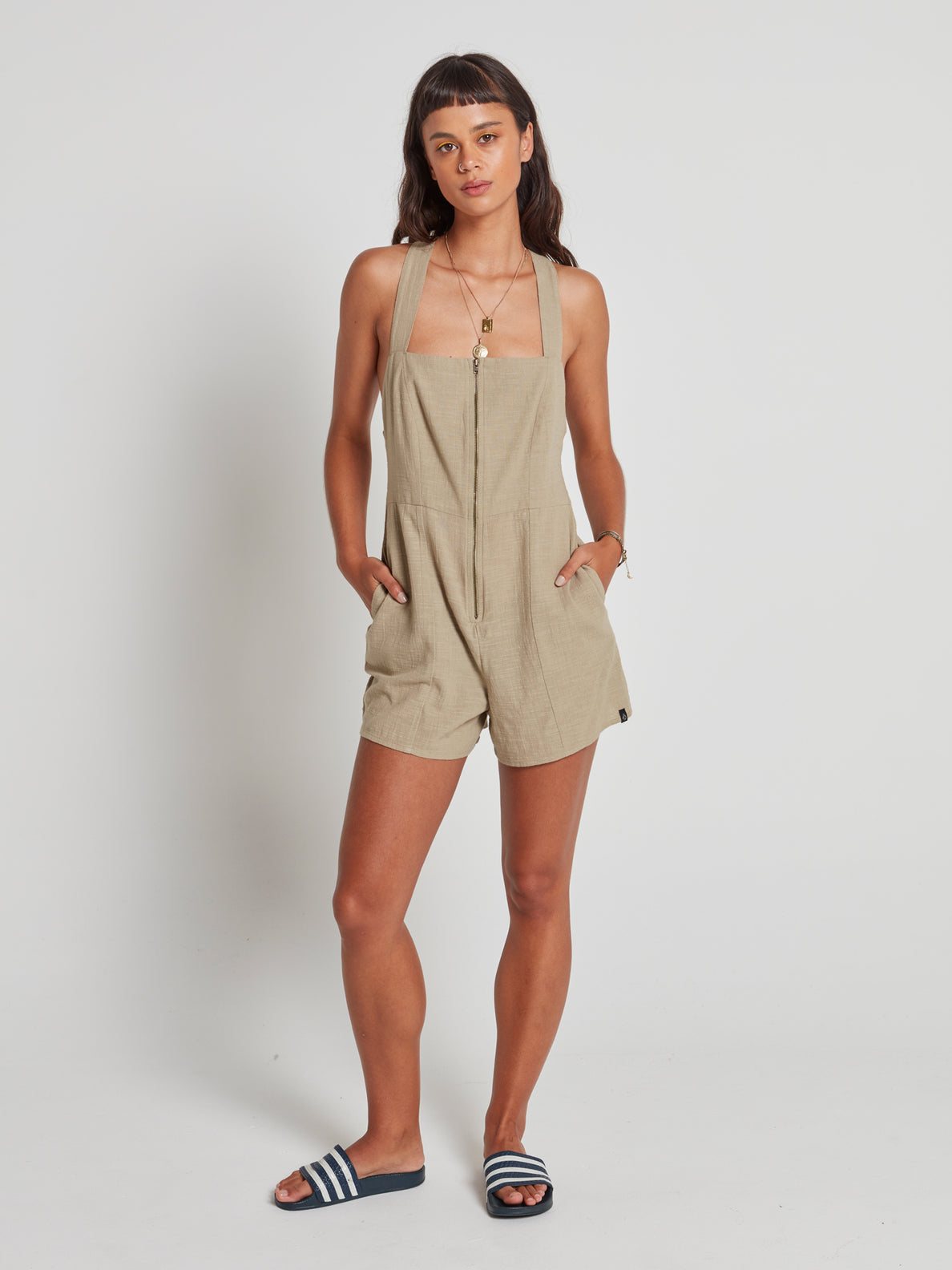 Nightstar Romper Dusty Green (B2841977_DGN) [F]