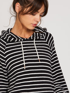 Lived In Lounge Hoodie - Black/White (B3111801_BWH) [50]