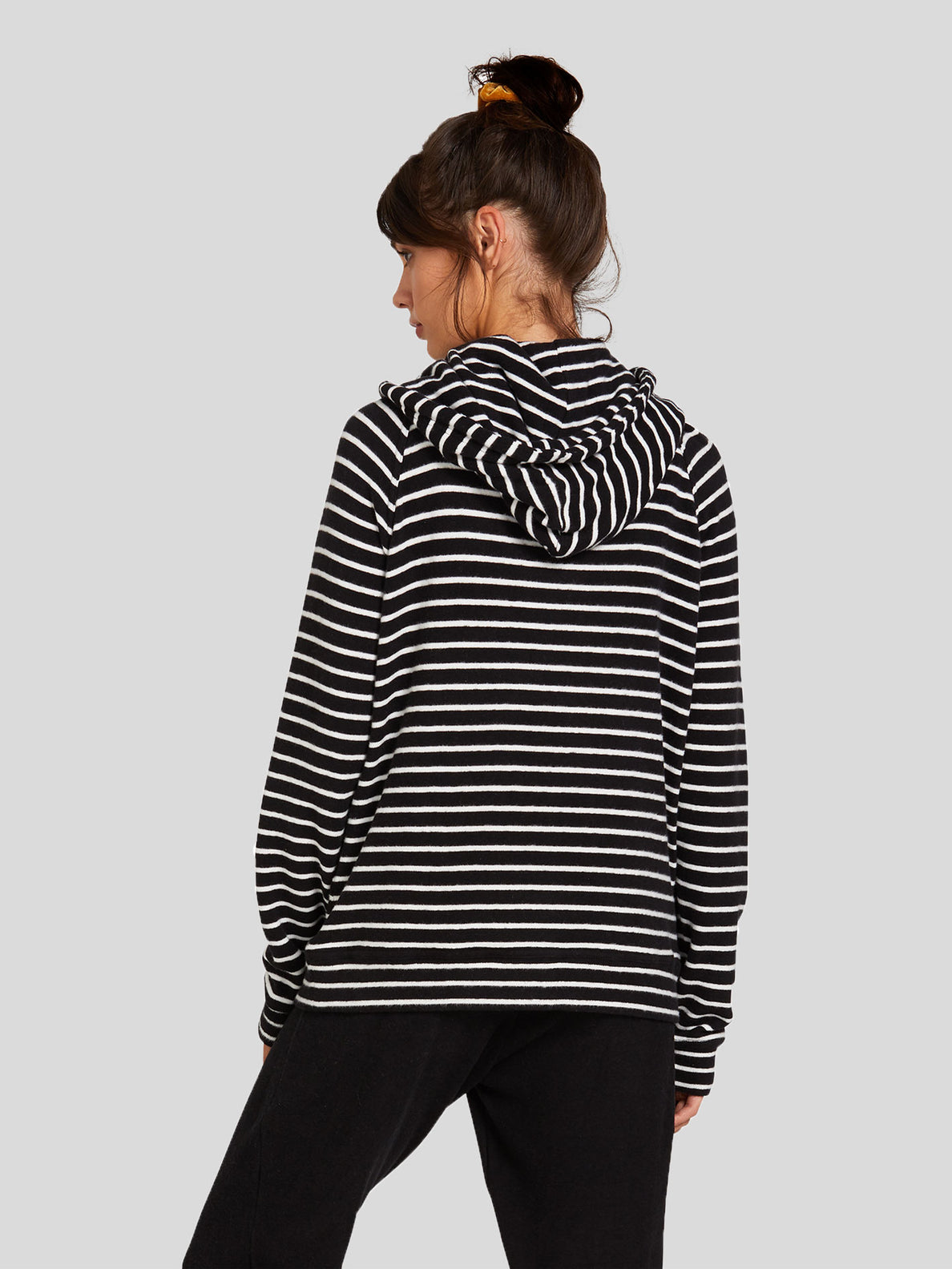 Lived In Lounge Hoodie - Black/White