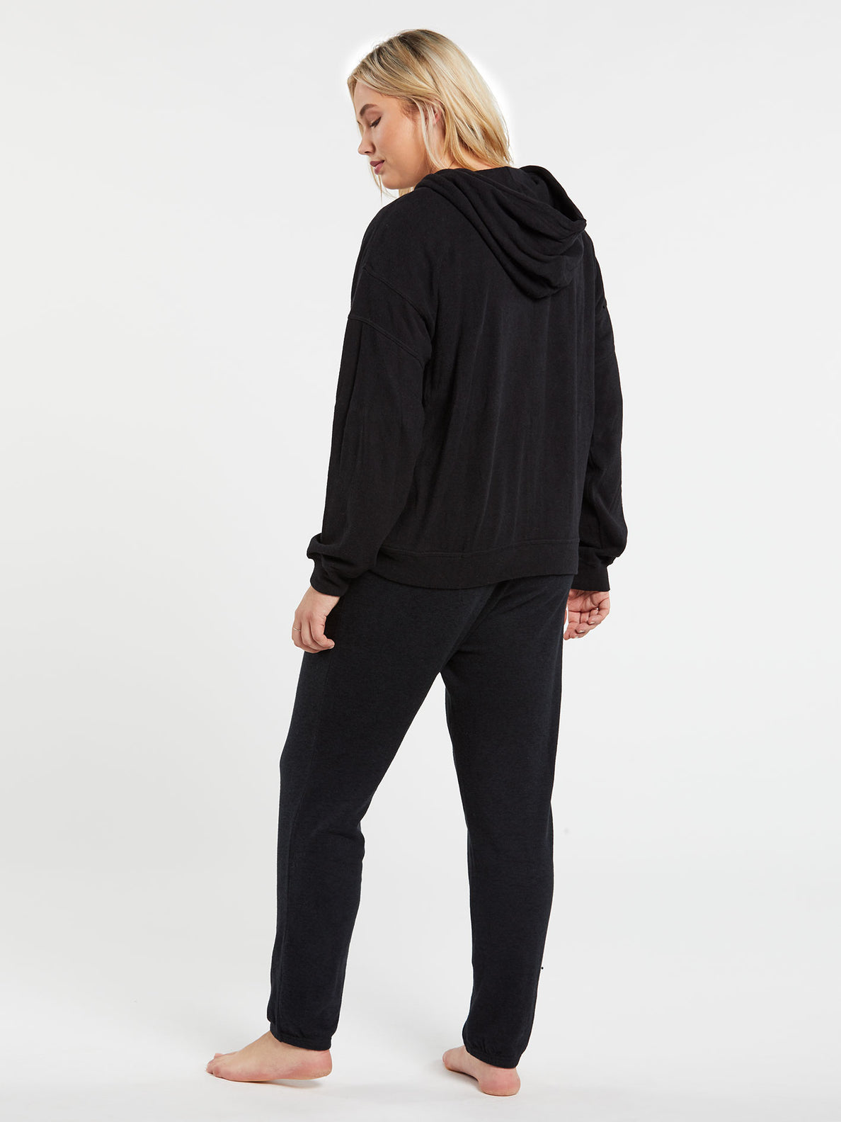 Lived In Lounge Zip Fleece - Black (B3111802_BLK) [11]