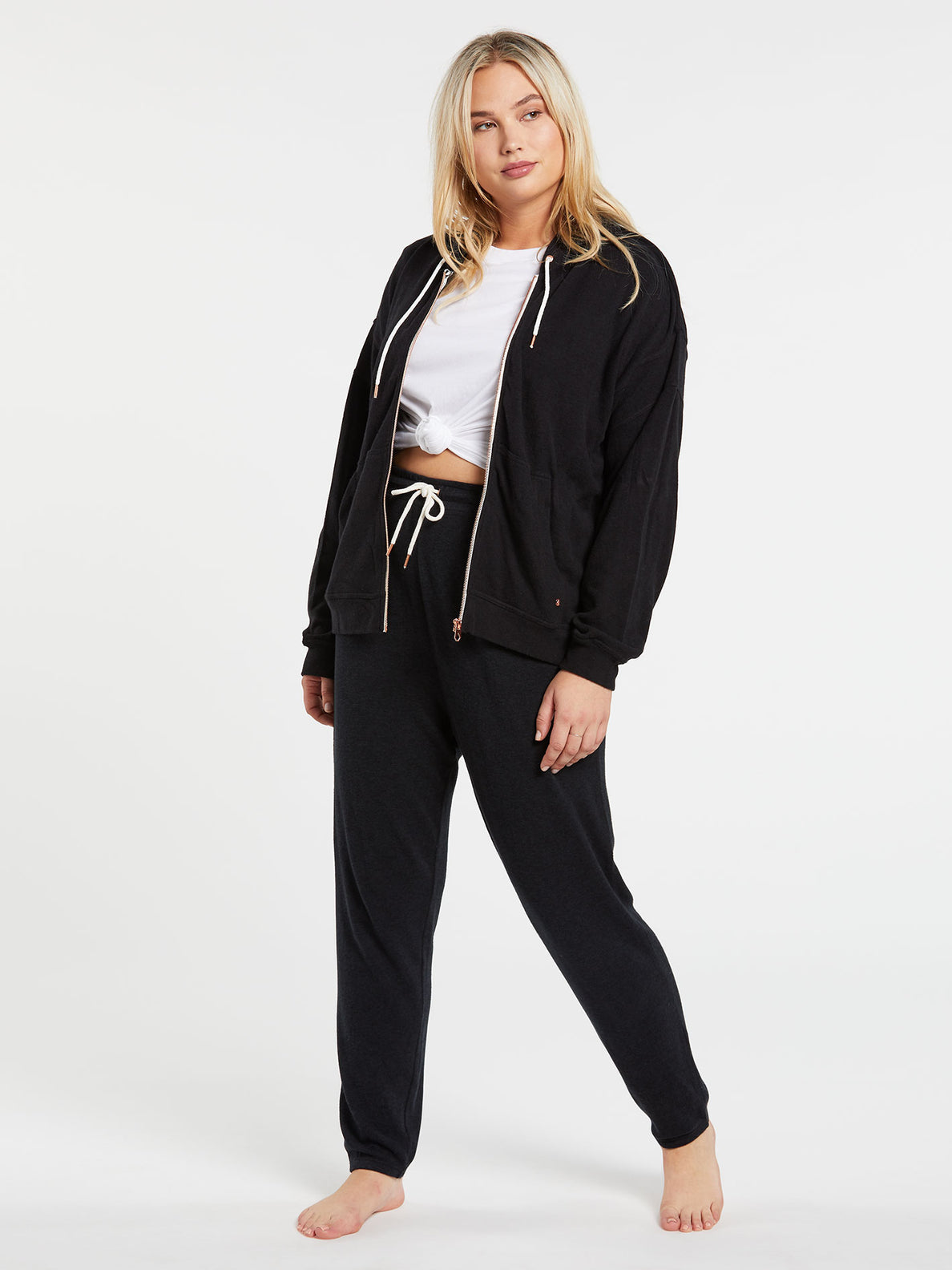 Lived In Lounge Zip Fleece - Black (B3111802_BLK) [12]