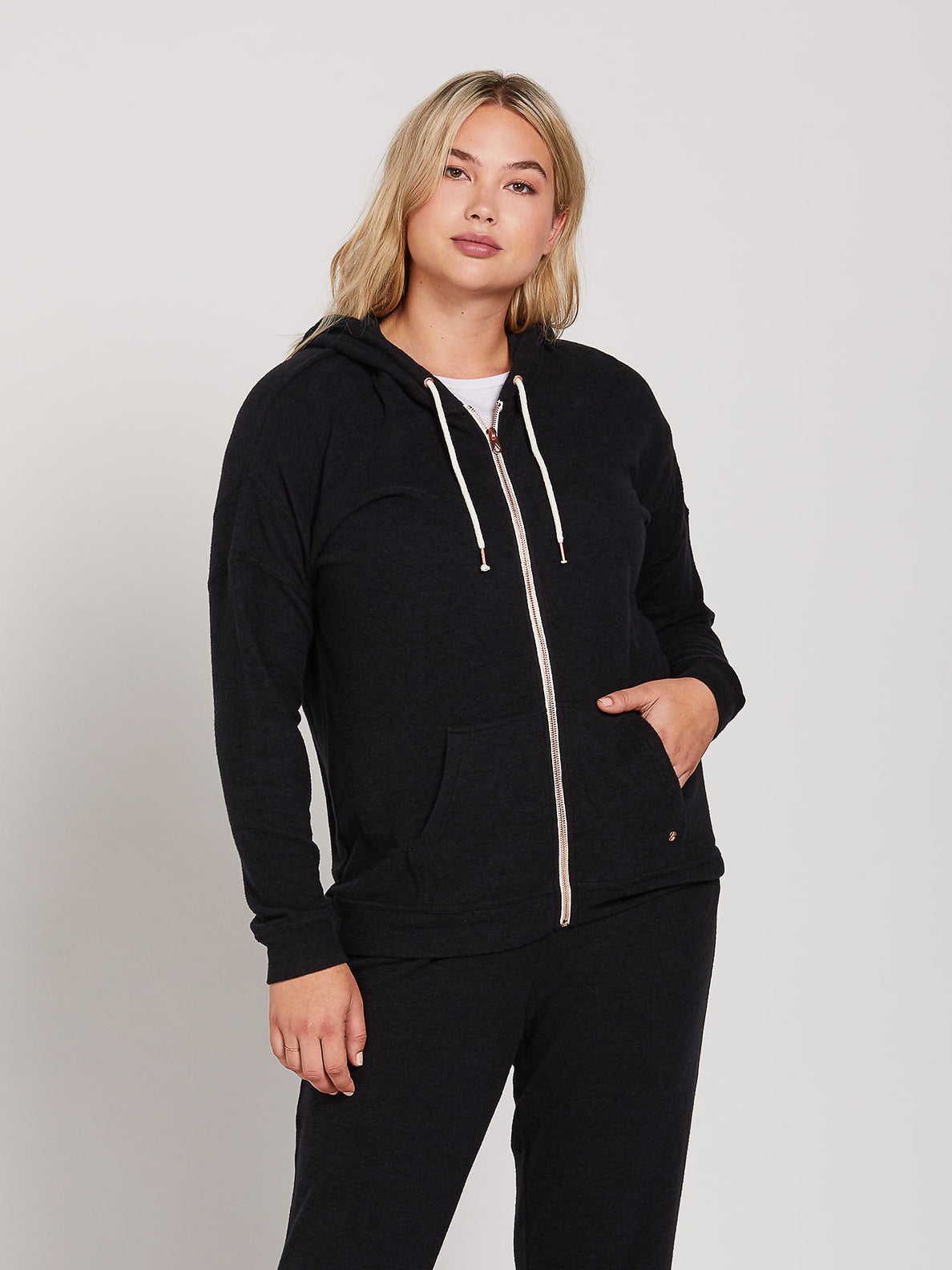 Lived In Lounge Zip Fleece - Black (B3111802_BLK) [21]