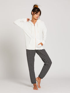 Lived In Lounge Zip Fleece - White (B3111802_WHT) [11]