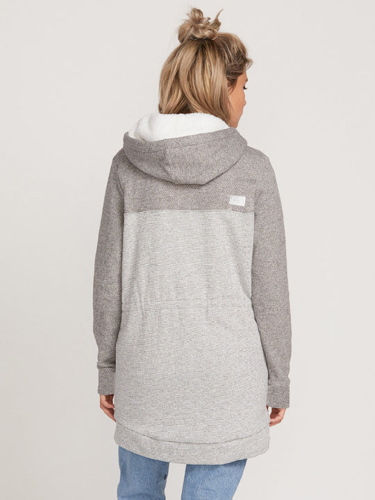 Sky Wanderer Hoodied Zip Jacket - Light Grey